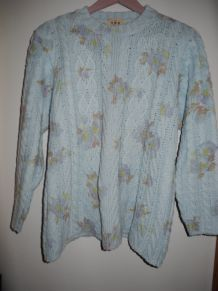 Pull Bleu long ample Taille 38/40 Loose