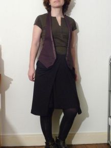Top / Gilet Dos Nu Aubergine - Taille 38 - Neuf - Vanessa Bruno Athé