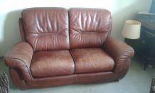 Canapé vintage en cuir