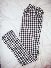 Pantalon damier sans bouton