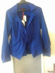 veste costume bleu aventures des toiles