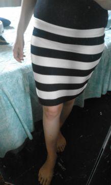 jupe camaieu noir et blanche neuf