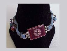 Bracelet Original En Daim Bleu Ciel