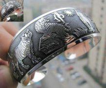 Bracelet / Jonc Argent Tibetain Bijoux Ethnique (Neuf)