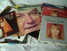 Lot de 40 disques vinyles 33t et 45t