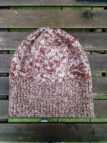 Bonnet en laine chinée marron coupe loose