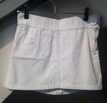 Mini jupe blanche en coton