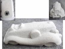 Figurine Voiture En Pierre Blanche- Marbell