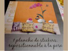 Stick Déco Mural Orchidée Fuschia En Vinyle