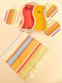 Set Apéritif Multicolore en plastique