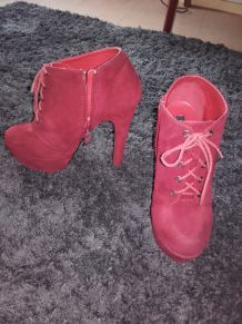 bottines rouges taille 39