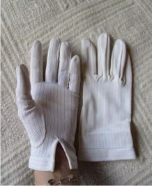 Jolis gants blancs ajourés 7 71/2