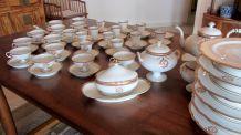 Service à dessert, thé et café en porcelaine fin XIXème
