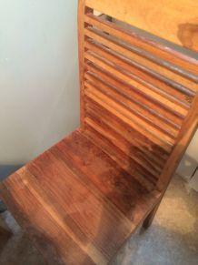 Lot de 4 chaises en bois exotique