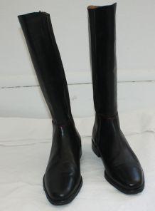 Bottes Cavaliere Femme 40 Cuir Noir Arcus