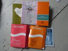 6 Echantillons parfum