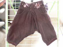 joli pantalon sarouel coton effet velour fin