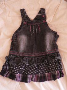 jolie robe coton jean 6-9 mois
