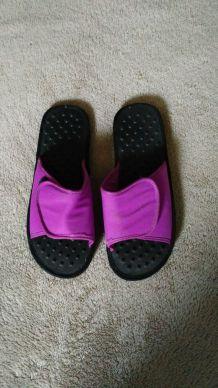 sandales massantes violet