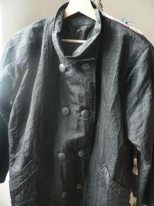 Manteau imperméable long noir