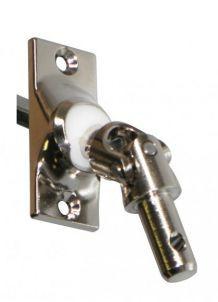 Store - Sortie de caisson chromée 45° et sous coffre avec cardan acier