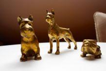 Figurines chien en laiton