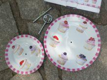 Présentoir à gâteaux - double
