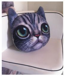 Superbe coussin chat impression 3D (neuf)