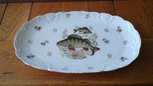 Plat a poisson en porcelaine