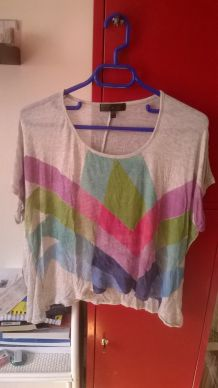 Top graphique loose Topshop