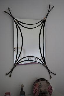 Miroir fer artisan d'art