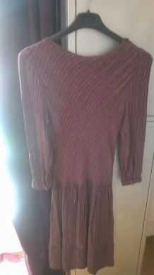 Robe vintage comme neuve rayée