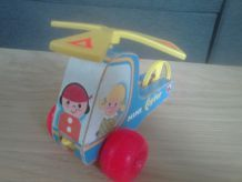 mini copter en bois fisher-Price 1970