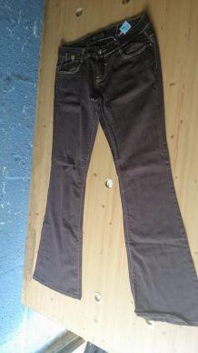 Jeans denim marron
