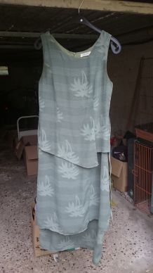 robe longue kaki palmier