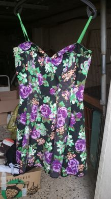 robe bustier à fleurs made in france