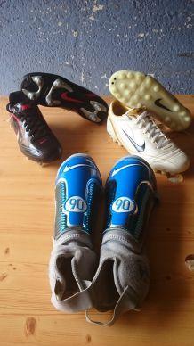 Basket crampons  foot nike, protège tibia...