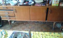 Enfilade teck vintage + Living bar en teck + Armoire merisier
