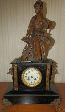 horloge 19e marbre et régule
