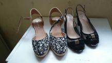 2 paires de chaussures d'été