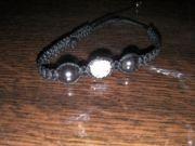 bracelet shamballa blanc