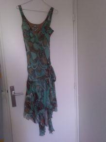 robe longue style queue de pie