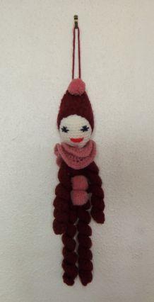 Poupée clown en laine, fait main