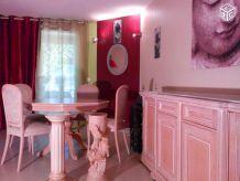 Buffet marbre + table ceruse (delorme) + chaises