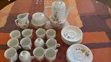 service a café véritable porcelaine de sologne