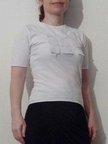 Top / Tee Shirt En Coton Blanc - Taille Xs - Biche De Bere