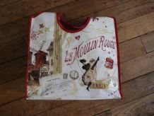 "Sac / Cabas ""Paris - Moulin Rouge"" Plastifié"