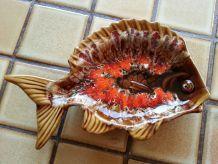 beurrier en forme de poisson original signé vallauris