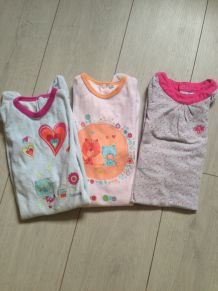 Lot 3 pyjamas fille 18 mois Obaibi