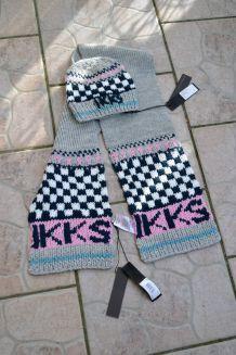 IKKS set Bonnet fille 2/4 ans et écharpe 128 cm